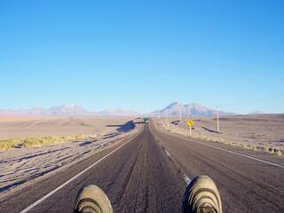 Fotomurales - Empty Road Along Countryside Landscape