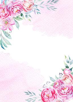 "Watercolor wedding invitation background 5x7 "", jpg"