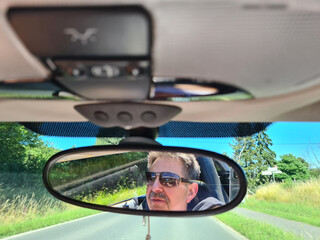 Mirror in the Car, on the Street