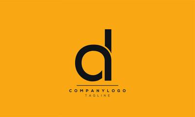 Alphabet letters Initials Monogram logo ad,da,a and d
