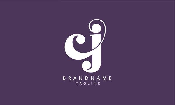 Alphabet letters Initials Monogram logo CJ, JC, C and J