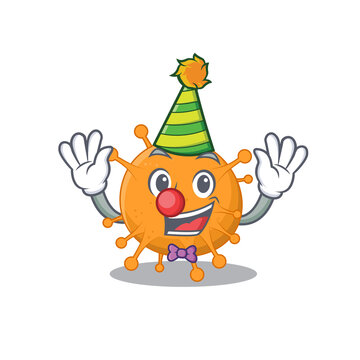smiley clown anaplasma cartoon character design concept