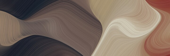 creative decorative waves backdrop with pastel brown, very dark blue and silver colors. can be used as header or banner