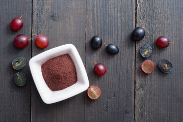 dried grape seed extract, beauty product and food ingredient Fototapete