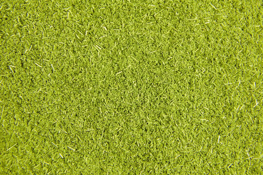 Wheatgrass or barley grass powder background. Detox superfood.