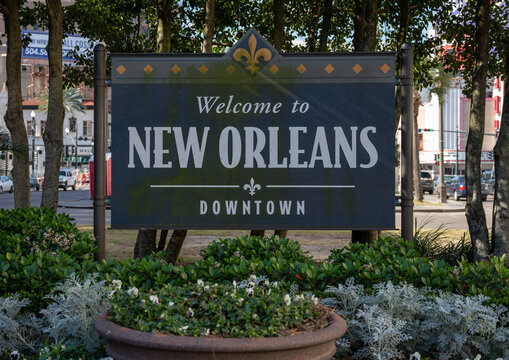 New Orleans Downtown Sign