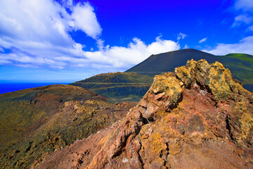 canary islands; la palma : volcano teneguia