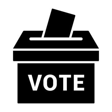 Vote ballot box for voting flat vector icon for apps and websites
