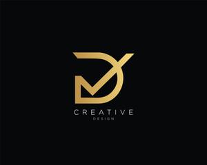 Letter DV VD Logo Design , Creative Minimal DV VD Monogram