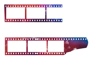 Wall Mural - set of grungy photo film frames,filmstrips with free copy space