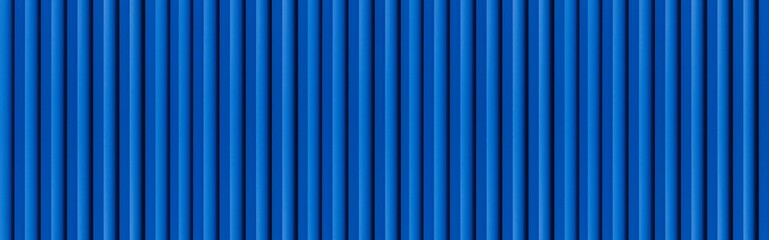 Photo sur Plexiglas Metal Panorama of blue Corrugated metal background and texture surface or galvanize steel