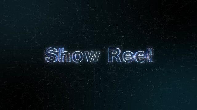 ShowReel グローなホログラムのメッセージ素材