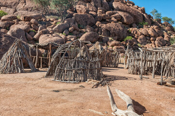 Traditional huts at the Damara Living Museum in Damaraland