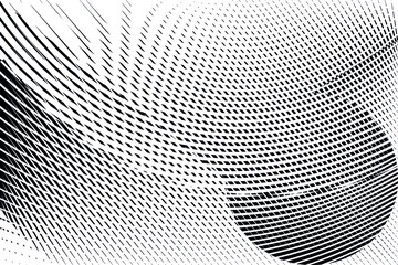Abstract energy halftone dots and lines pop art background, geometric dynamic pattern, vector modern design texture.