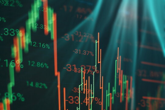 Data analyzing in trading market. Working set for analyzing financial statistics and analyzing a market data.
