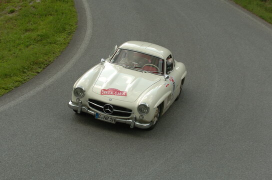 Mercedes Benz 300 SL Gullwing Coupe at the Ennstal Classic in Austria