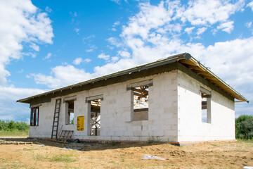 Obraz Budowa domu jednorodzinnego - fototapety do salonu