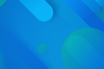 Blue wallpaper with colorful circles and lines.