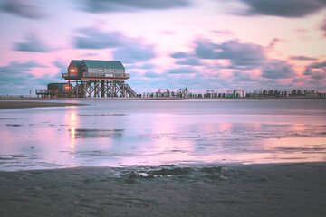 Nordsee an der Küste von Schleswig-Holstein bei Sankt Peter-Ording