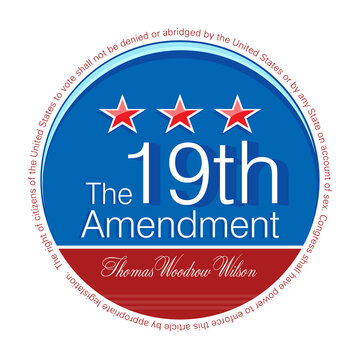Vector illustration of the Nineteenth Amendment to the United States Constitution