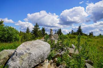 Felsen und Steine am Schneeberg in Bayern