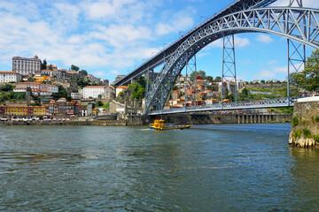 Douro River with Dom Luis Bridge