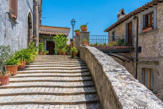 Scenic sight in the village of Castiglione in Teverina, Province of Viterbo, Lazio, Italy.