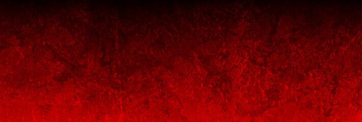Wall Mural - Dark red grunge textural concrete wall background. Vector banner design