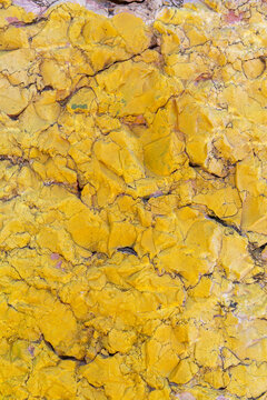 Yellow Painted Natural Stone Texture