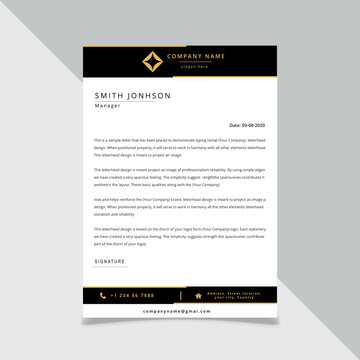 black corporate identity for your business.Vector format, editable