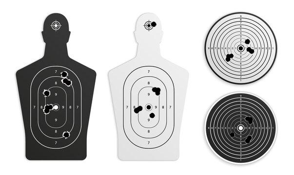 Realistic Shooting Targets Set