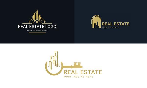 Modern Real Estate Logo Set Template