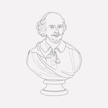 Shakespeare silhouette icon line element. Vector illustration of shakespeare silhouette icon line isolated on clean background for your web mobile app logo design.