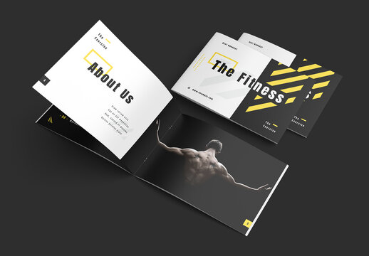 Black Fitness Brochure Layout