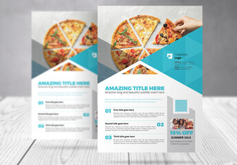 Business Flyer with Cyan Accents