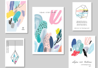 Set of Posters with Abstract Background