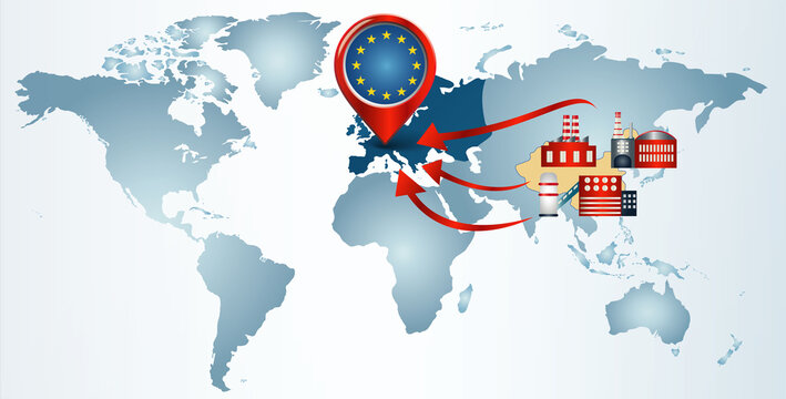 Reshoring. Local production.Factories companies from China return to the EUROPE. Protectionism.Local production self-sufficiency. Automated supply chain.Avoid production chain disruption