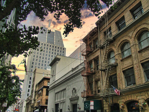 Buildings in San Francisco. Beautiful city of USA