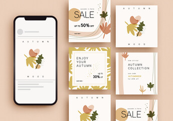 Autumn Sale Social Media Post Layouts