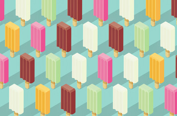 Delicious popsicles background