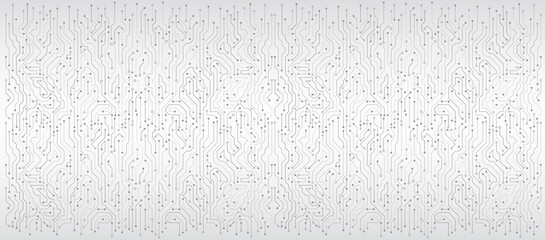 Wide High-tech technology background texture. Circuit board vector illustration. Vector electronic communication. Fototapete