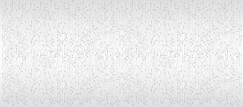 Wide High-tech technology background texture. Circuit board vector illustration. Vector electronic communication.