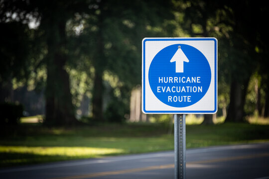 """Hurricane Evacuation Route"" Sign"