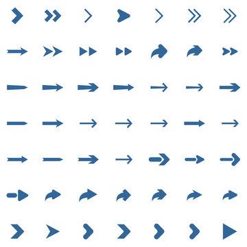 arrow sets icon vector symbol isolated illustration white background