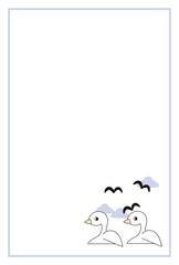 カモメとアヒルのポストカード