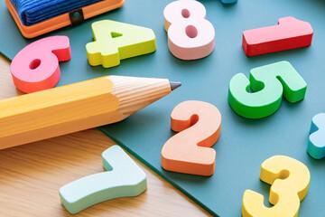 算数・数学イメージ 黒板 数字