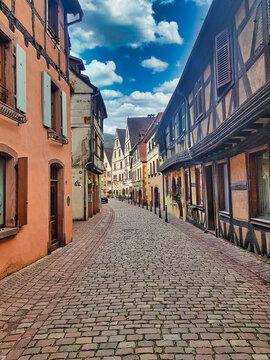 Street in Alsace. Colmar. France.Europe