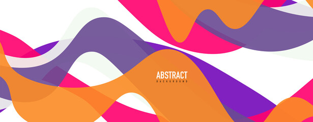 Fluid wave colorful abstract background. Dynamic colorful vibrant vector design