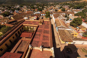 Beautiful view of Trinidad city from Bell Tower, amazing landscape of the city. Cuba Fototapete