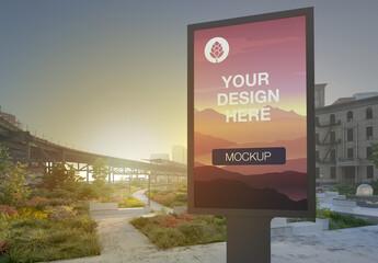 Billboard Advertising Kiosk Mockup